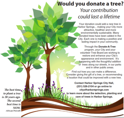 Donate a tree in Harbor Springs Michigan